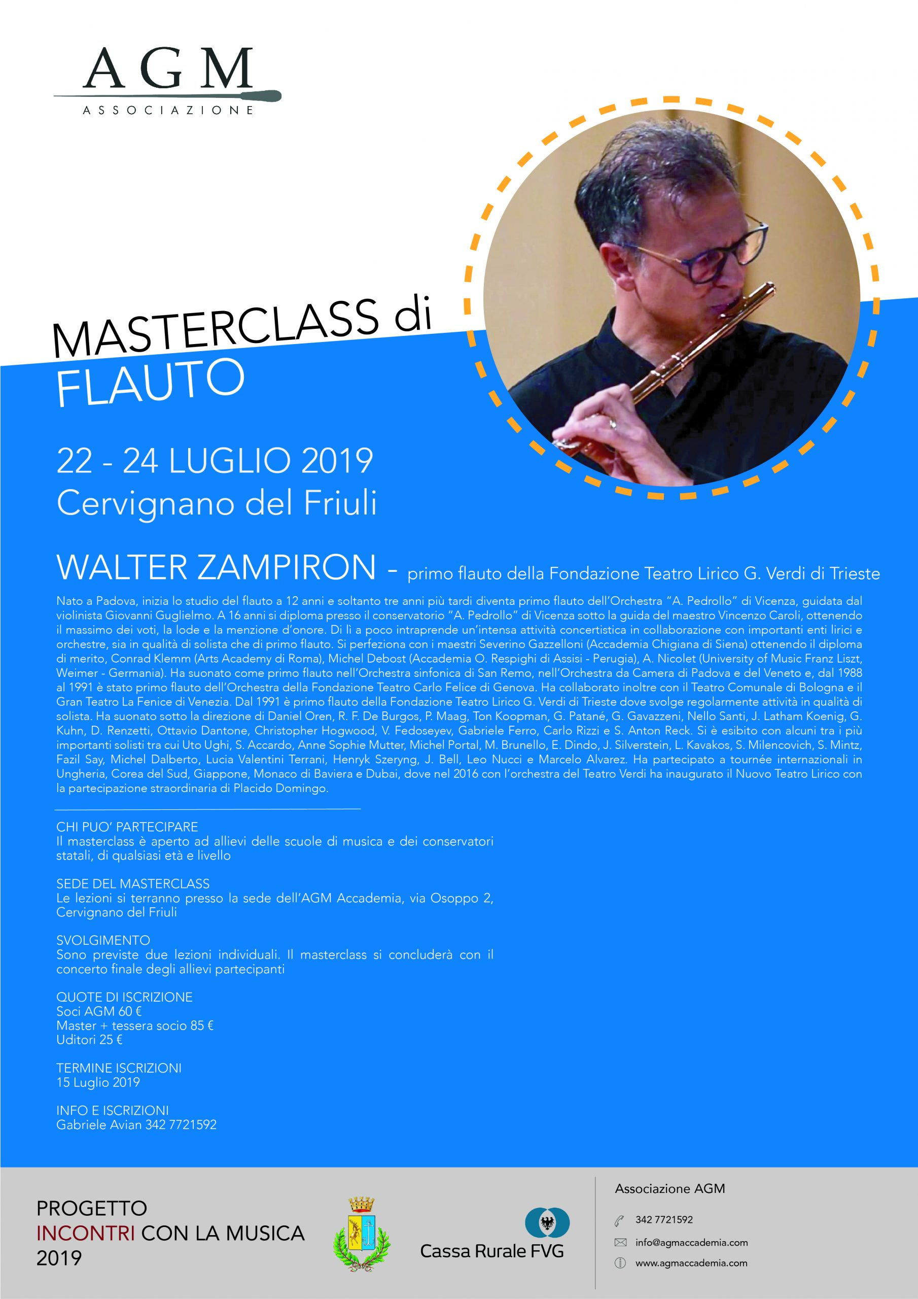 master flauto 2019 Walter Zampiron